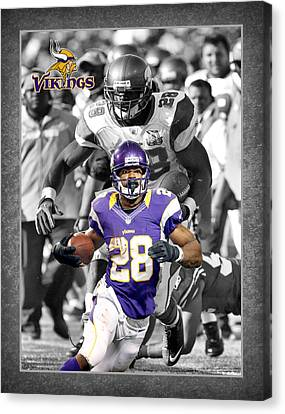 Adrian Peterson Vikings Canvas Print by Joe Hamilton