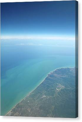 Adriatic Sea From Space Canvas Print