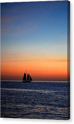 Adrift On A Silhouette Canvas Print by Zoa  Photography