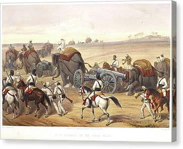 Advance Of The Siege Train Canvas Print by British Library