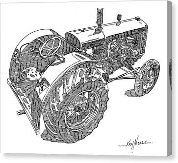 Advance Rumely Canvas Print by Ken Nickle