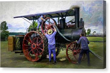 Advance Steam Traction Engine Canvas Print by F Leblanc