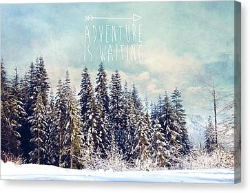 Canvas Print featuring the photograph Adventure Is Waiting by Sylvia Cook