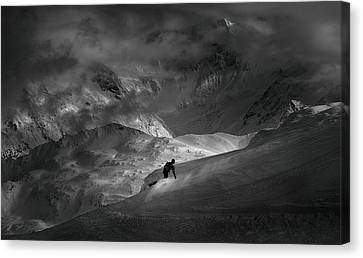 Downhill Canvas Print - Adventure With Concerns by
