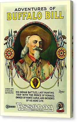 Adventures Of Buffalo Bill Canvas Print by Movie Poster Prints