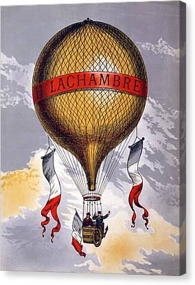 Advertisement For Balloons Manufactured Canvas Print by French School
