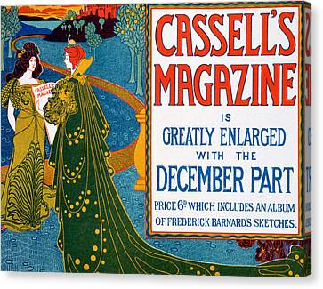 Advertisement For Cassells Magazine Canvas Print