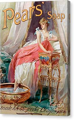 Boudoir Canvas Print - Advertisement For Pears Soap by English School