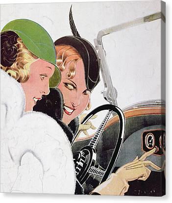 Advertisement For Solex Carburettors Canvas Print by Rene Vincent