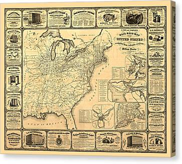 Advertising Map Canvas Print by Gary Grayson