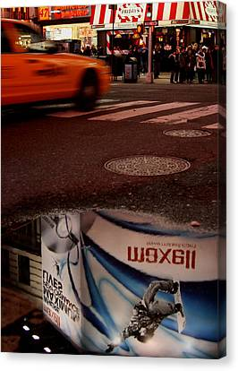 Advertising Puddles Canvas Print by Karol Livote