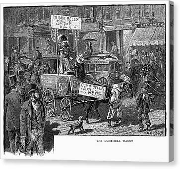 Advertising Wagon, 1880 Canvas Print by Granger