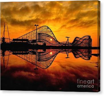 Adventure Pier At Sunrise Canvas Print