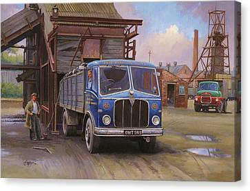 Aec Mercury Tipper. Canvas Print by Mike  Jeffries