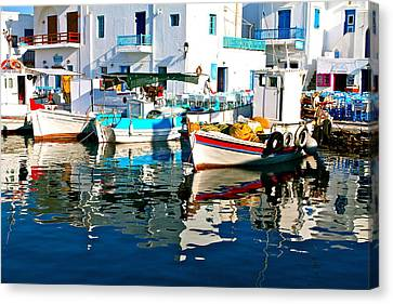 Aegean Harbor  Canvas Print