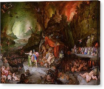 Aeneas And The Sibyl In The Underworld, 1598 Oil On Copper Canvas Print
