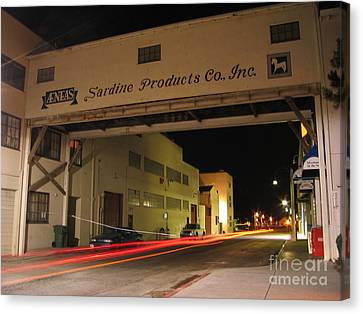 Canvas Print featuring the photograph Aeneas Overpass On Cannery Row by James B Toy