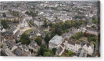 Aerial Chartres Canvas Print by Olivier Le Queinec