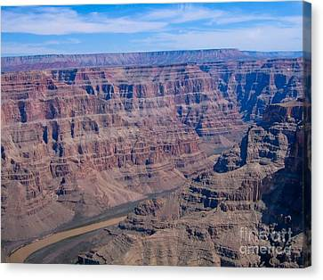 aerial Grand Canyon Canvas Print by Sophie Vigneault