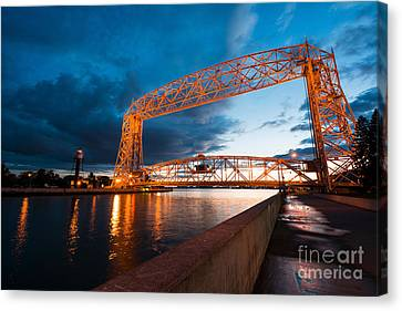 Aerial Lift Bridge Canvas Print by Adahm Faehn