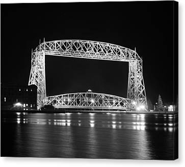 Aerial Lift Bridge Duluth Minnesota Canvas Print by Heidi Hermes