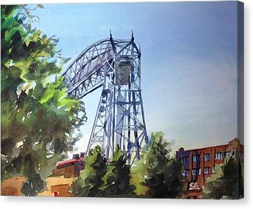 Aerial Lift Bridge Canvas Print by Spencer Meagher