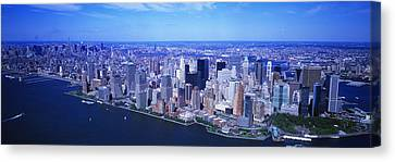 Aerial, Lower Manhattan, Nyc, New York Canvas Print by Panoramic Images