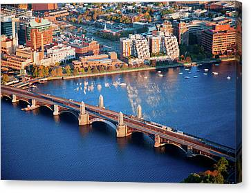 Boston Bridges Canvas Print - Aerial Morning View Of Longfellow by Panoramic Images