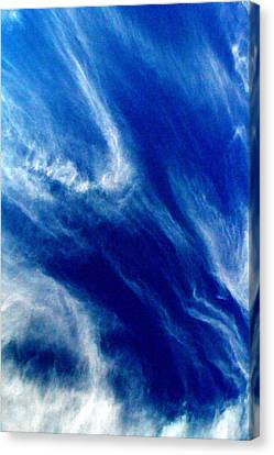 Canvas Print featuring the photograph Aerial Ocean by Carlee Ojeda