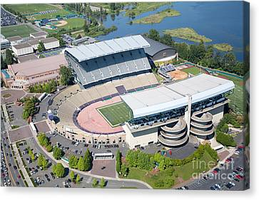 Aerial Of Husky Stadium Canvas Print
