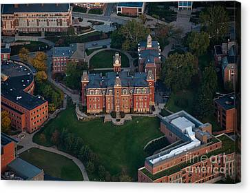 Aerial Of Woodburn Hall Canvas Print by Dan Friend