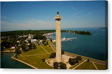 Aerial Perry's Monument  Canvas Print