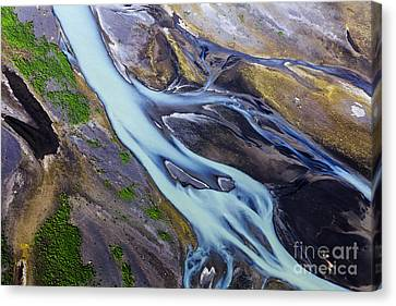 Aerial Photo Of Iceland  Canvas Print