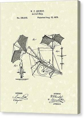 Aerial Ship 1879 Patent Art Canvas Print