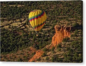 Aerial View, Doe Mesa, Red Rock Canvas Print
