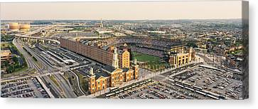 Aerial View Of A Baseball Stadium Canvas Print by Panoramic Images