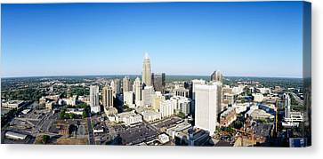 Aerial View Of A City, Charlotte Canvas Print by Panoramic Images