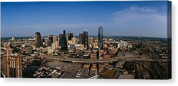 Aerial View Of A City, Dallas, Texas Canvas Print by Panoramic Images