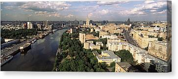 Aerial View Of A City, Moscow, Russia Canvas Print