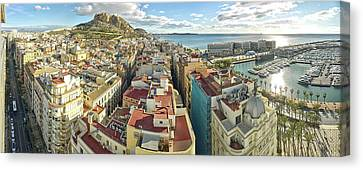 Aerial View Of A City, Old Town, Santa Canvas Print by Panoramic Images