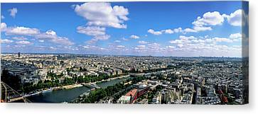 Aerial View Of A City, Paris Canvas Print by Panoramic Images