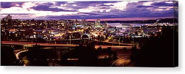Aerial View Of A City, Tacoma, Pierce Canvas Print
