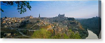 Aerial View Of A City, Toledo, Spain Canvas Print by Panoramic Images