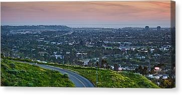 Aerial View Of A City Viewed Canvas Print
