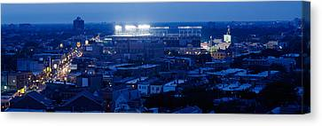 Built Canvas Print - Aerial View Of A City, Wrigley Field by Panoramic Images