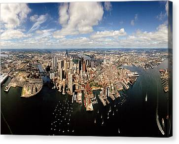 Aerial View Of A Cityscape, Boston Canvas Print by Panoramic Images