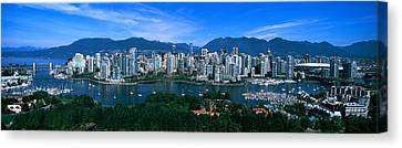 Aerial View Of A Cityscape, Vancouver Canvas Print by Panoramic Images