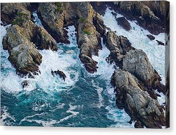 Aerial View Of A Coast, Point Lobos Canvas Print by Panoramic Images