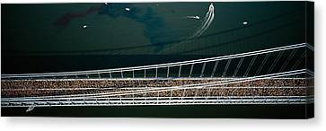 Endurance Canvas Print - Aerial View Of A Crowd Running by Panoramic Images
