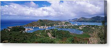 Aerial View Of A Harbor, English Canvas Print by Panoramic Images